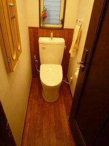節水トイレ 無垢フローリング