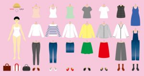 服の量を管理可能な衣装部屋