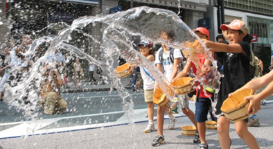 練馬区の打ち水