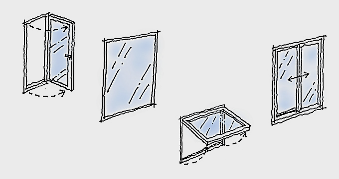 練馬区の窓のあるウォークインクローゼット