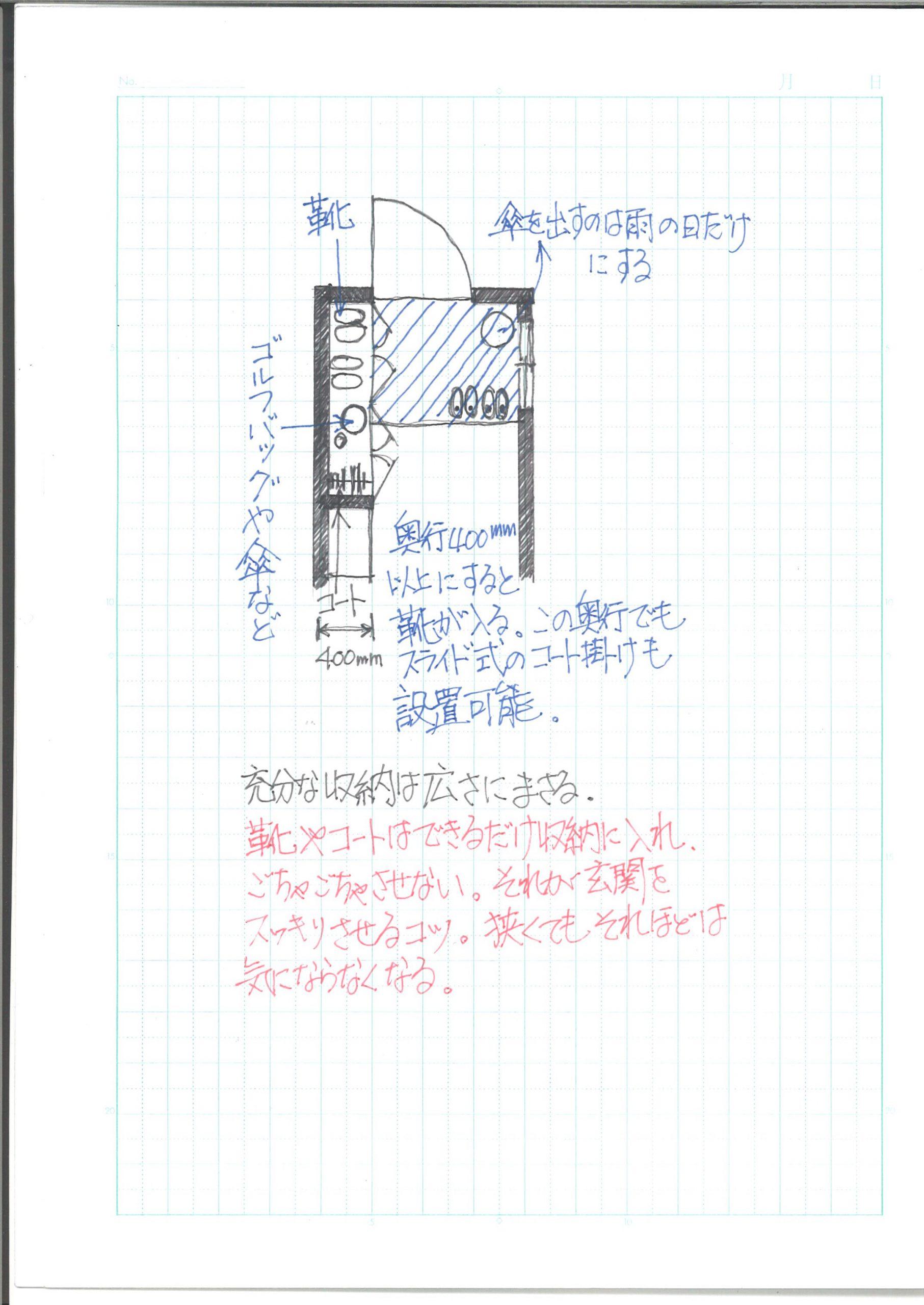 練馬区のシンプル玄関