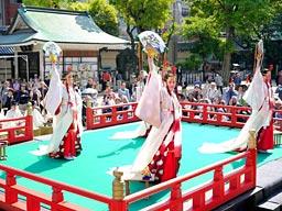 疫病祓い健康を祈る鎮花祭