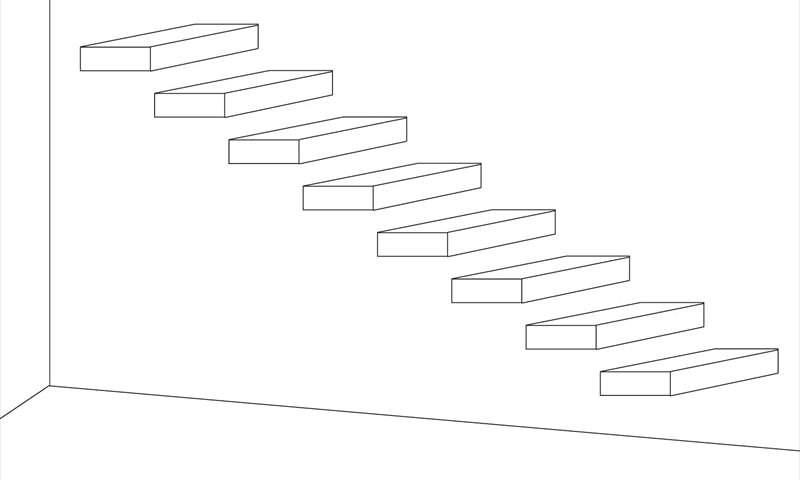 片持ち階段構造