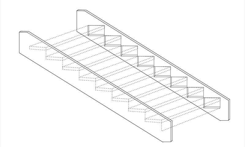 側桁階段構造