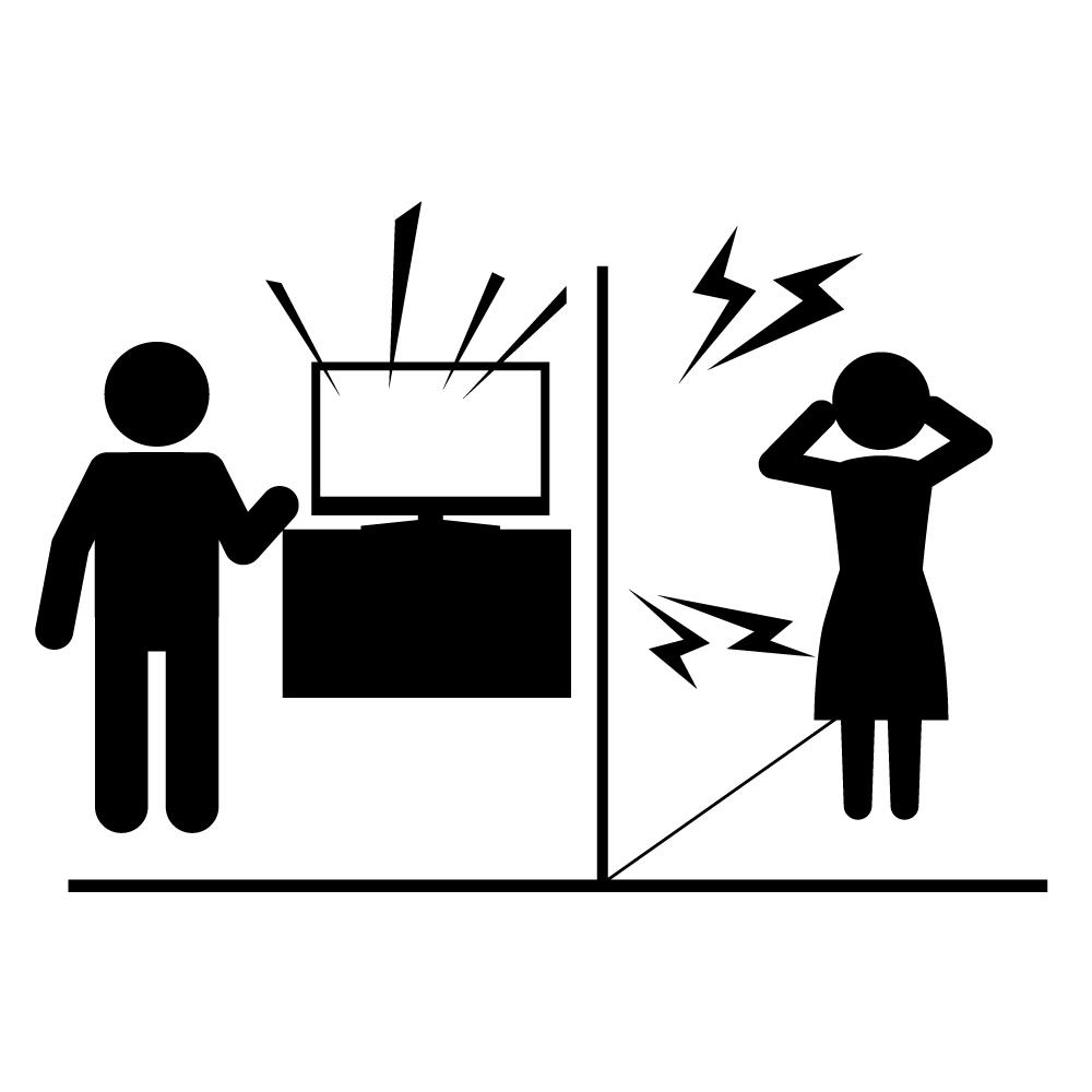 テレビの音
