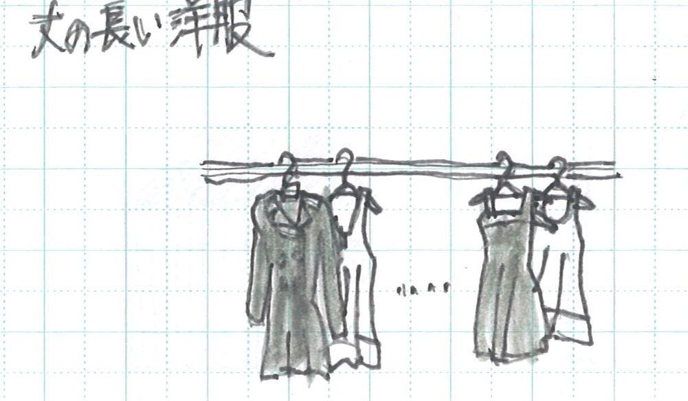 丈長洋服の収納