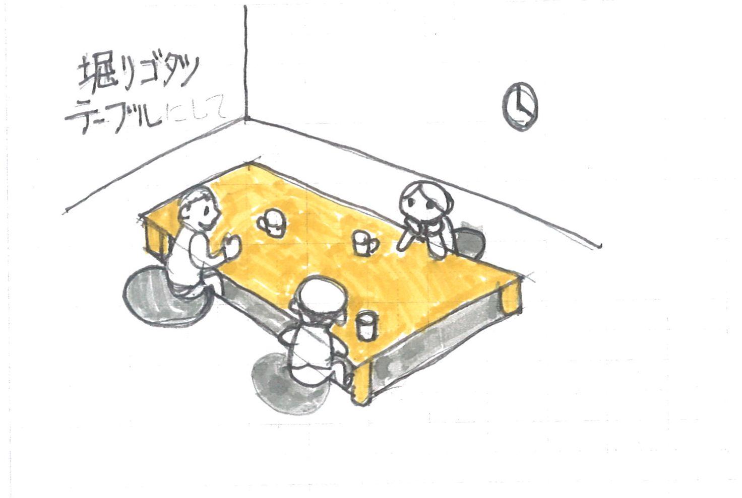 掘り炬燵テーブル