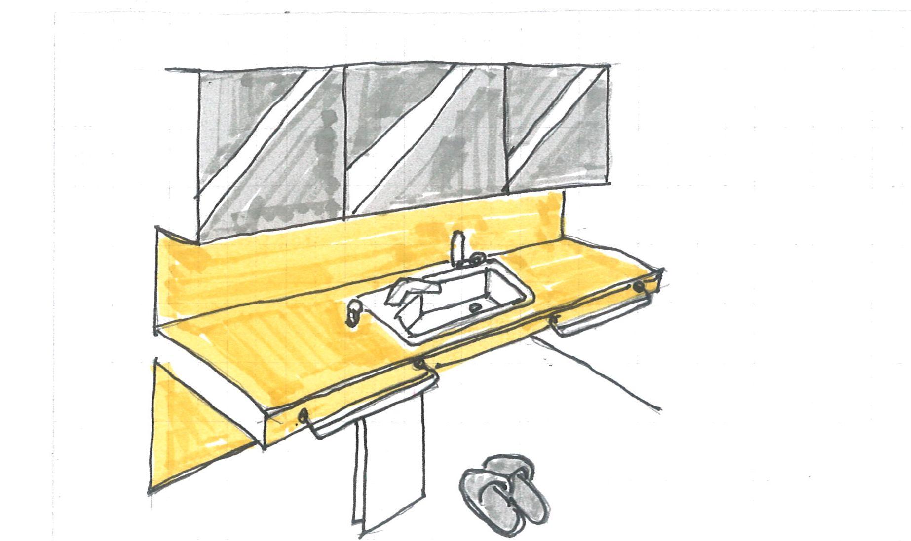 ゆとりのある洗面器
