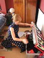 英国の箱式子ども収納