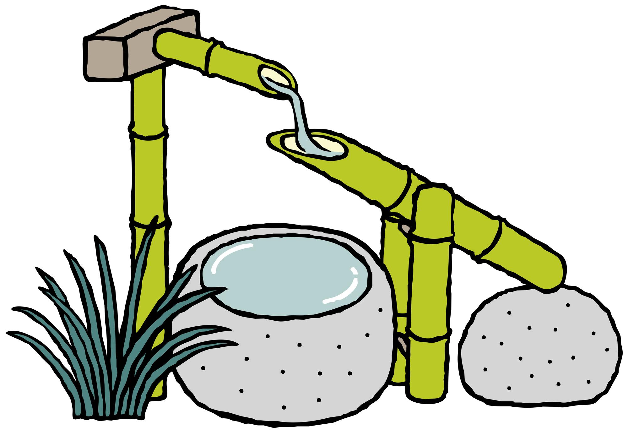庭園の洗面器