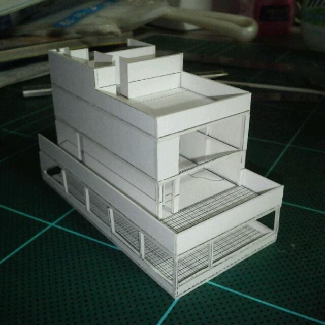 シトロアン型住宅 模型
