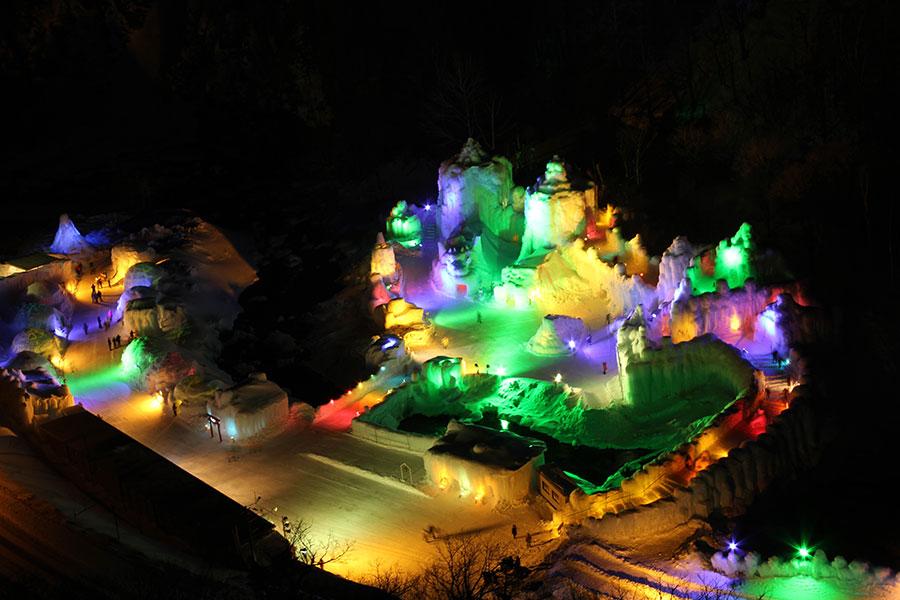 「氷瀑まつり」層雲峡温泉