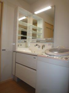 高品位ホーロー洗面化粧台 ハイバックカウンター フロート洗面台
