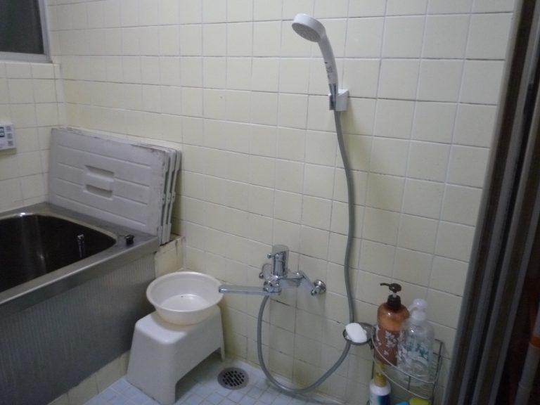 H邸浴室シャワー水栓工事