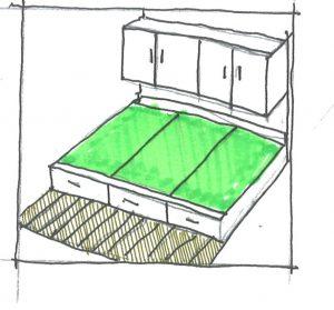 小上がり3畳のベッド