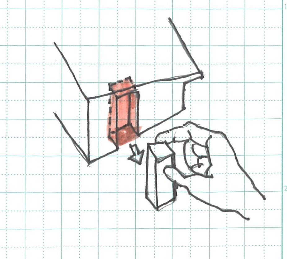 凹型に抜く玄関