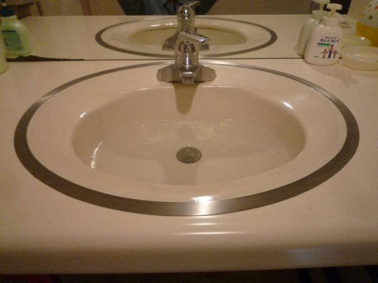 F邸洗面化粧台水栓交換