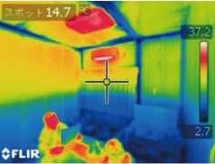 エアコン暖房時