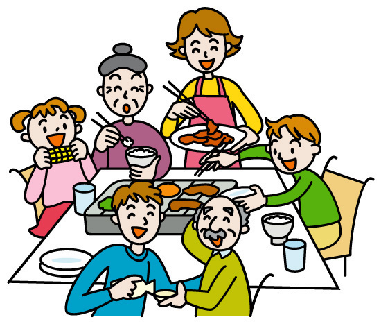親子三世代の食事