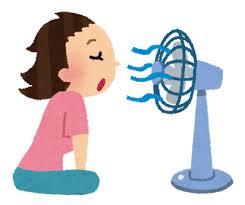 扇風機の風