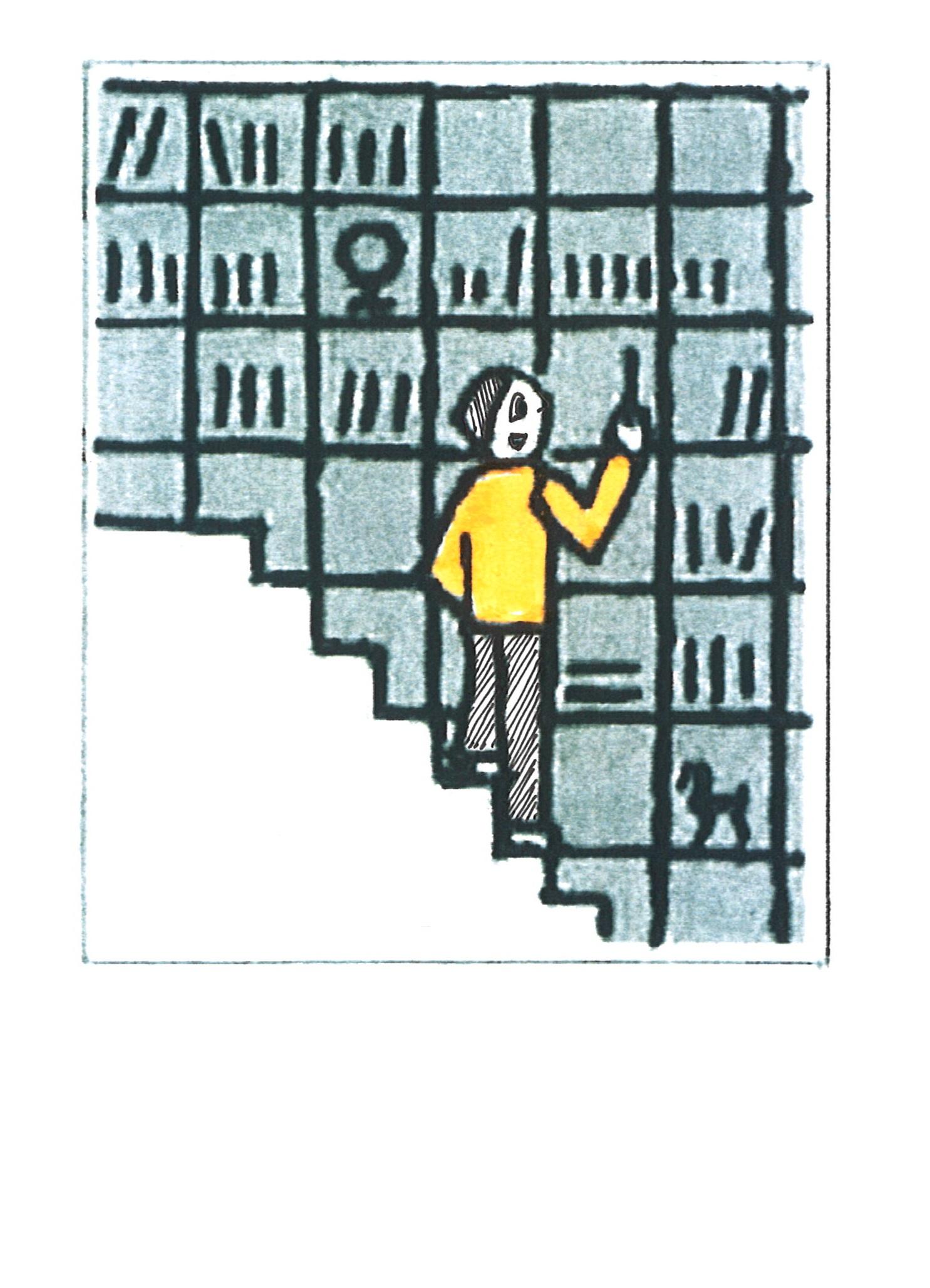 壁面いっぱいの本棚