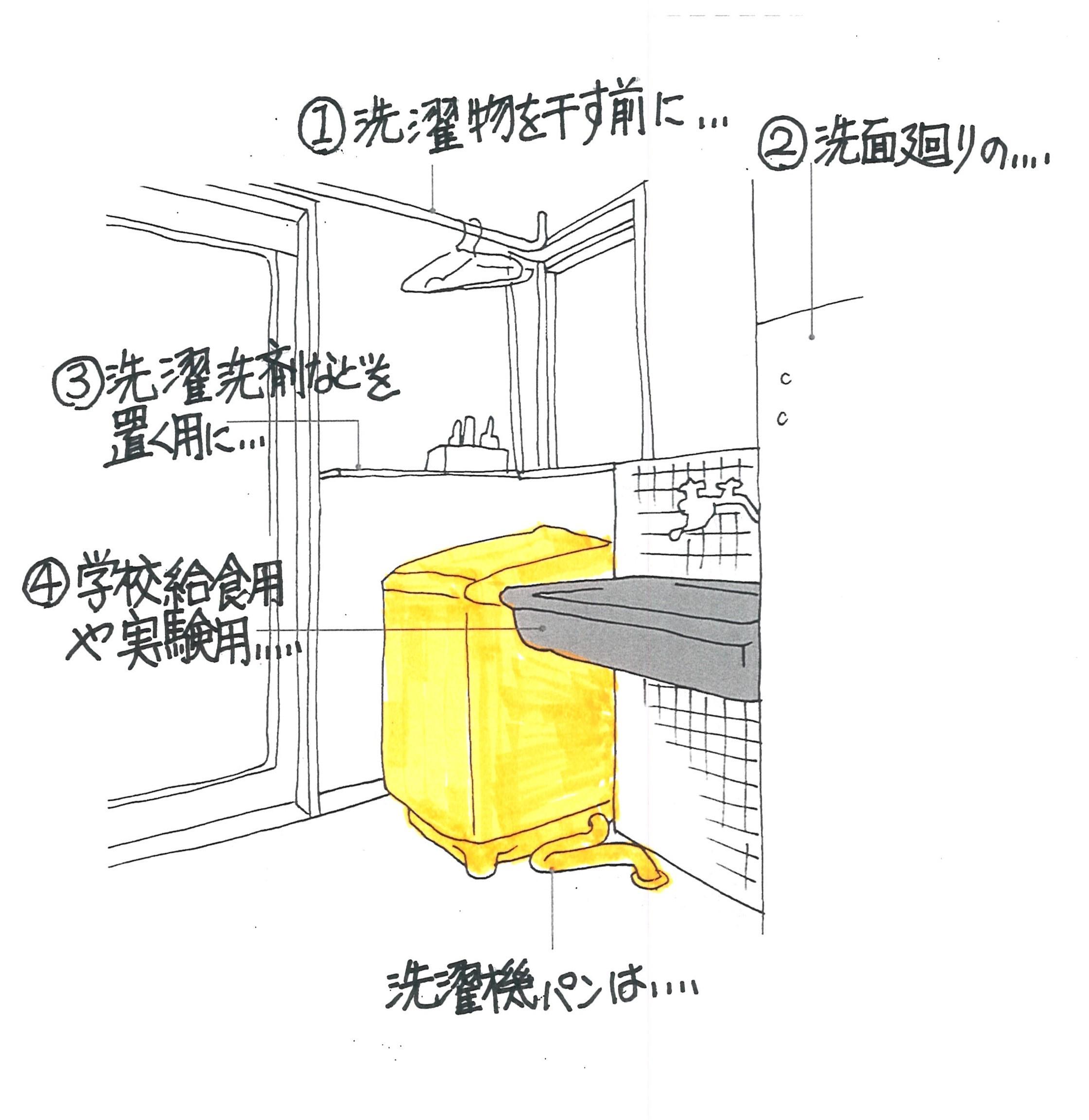 スッキリとした洗面所