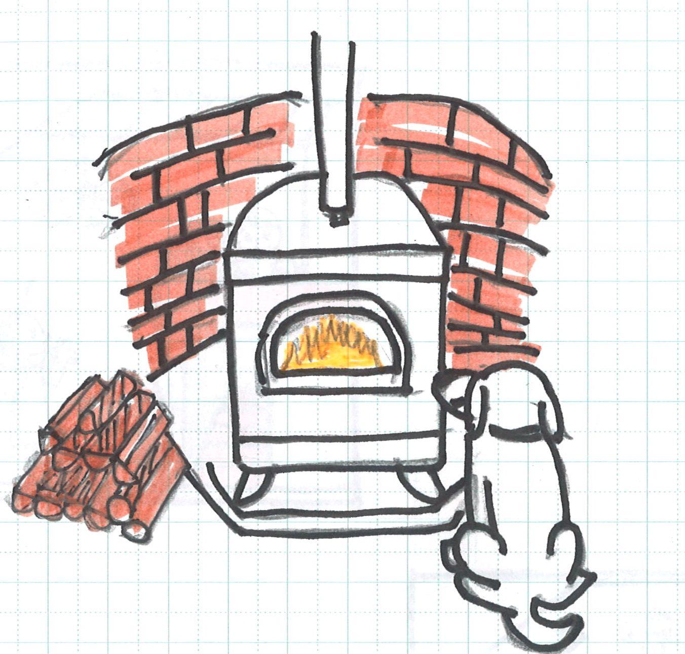 放射暖房薪ストーブ