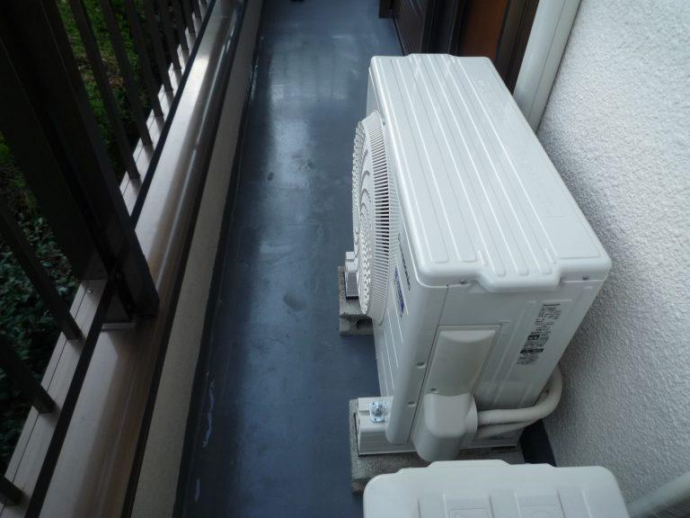 H邸エアコン交換工事および専用コンセント工事