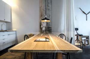 ロングワイドダイニングテーブル